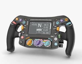 F1 Steering Wheel steering 3D model