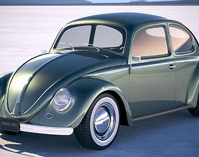 Vokswagen Beetle 1950 3D model