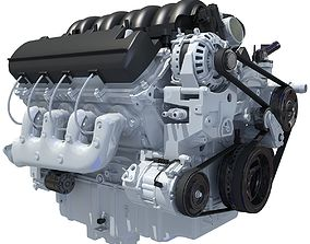 V8 Engine Chevrolet Silverado 3D model