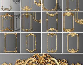 3D model Collection stucco molding frame