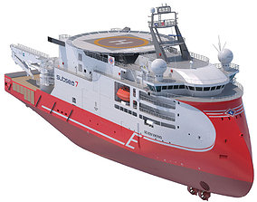 Light Construction Vessel Seven Viking 3D
