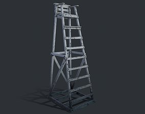 Lifeguard Chair 3D model low-poly