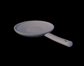 Frying Pan 3D asset game-ready