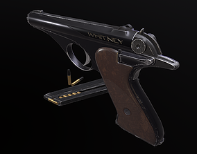 Whitney Wolverine pistol 3D model