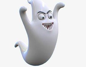 3D asset Cartoon Ghost Character V3