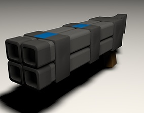 grenade launcher weapon 3D model realtime
