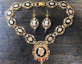 3D print model necklace with elizabeth 2 and nicholas 2