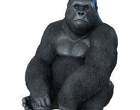 3D print model Deco Figurine Monkey Gorilla Side XL