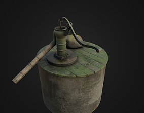 3D model game-ready Old Japanese Well Pump