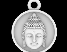 3D print model Buddha Head Charm Pendant