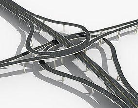 3D model Highway Viaduct
