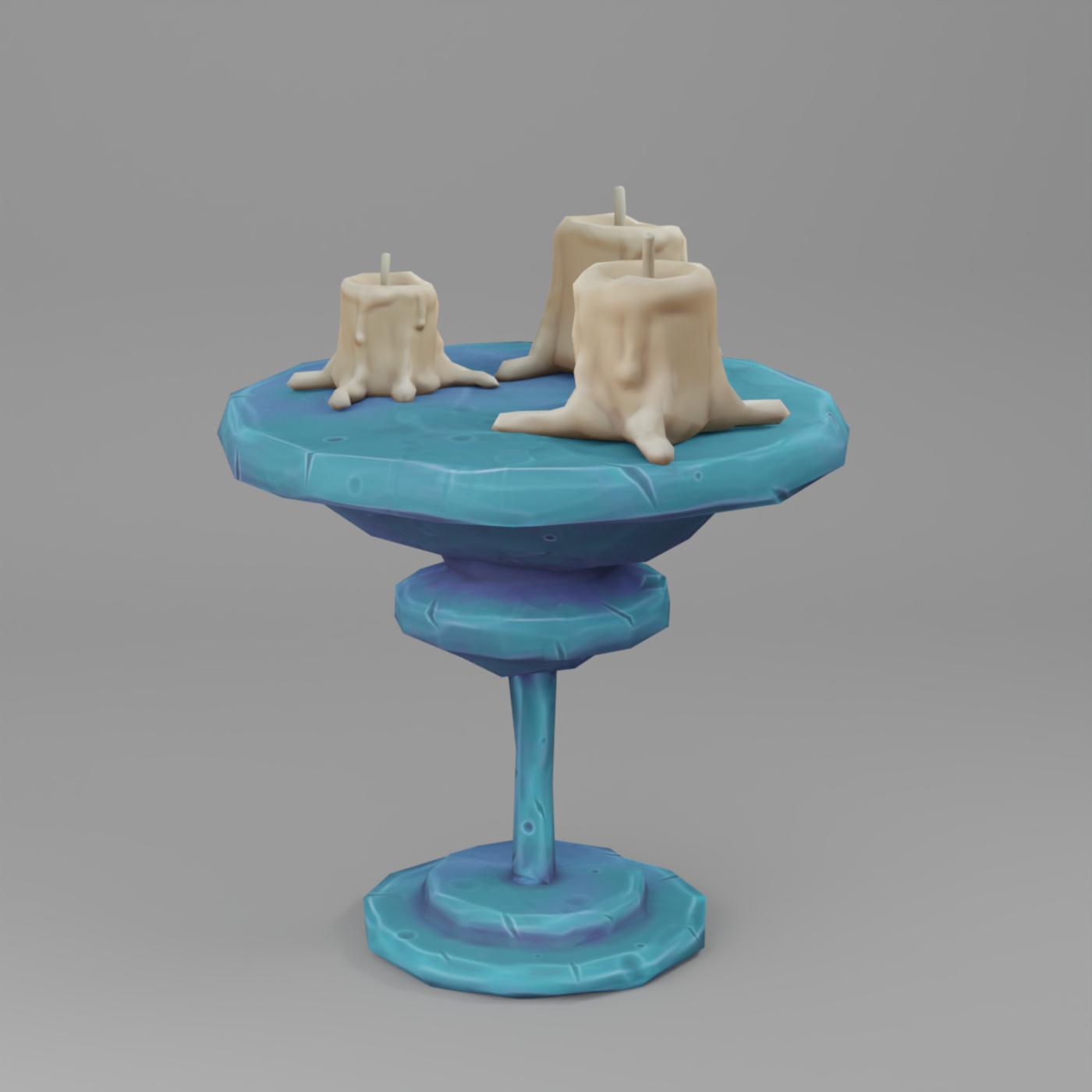 Stylized Table and Candles