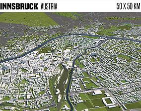 3D model Innsbruck Austria 50x50km