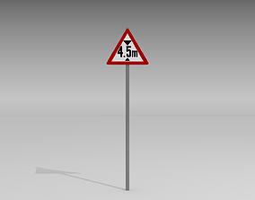 Maximum height sign 3D model
