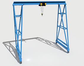 3D model Gantry Crane 4