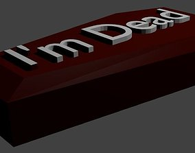 3D printable model The coffin with the inscription I m