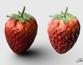 Strawberry 3D asset VR / AR ready