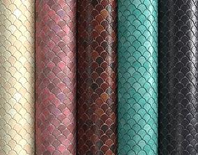 3D model Materials 6- Fish scale tiles PBR
