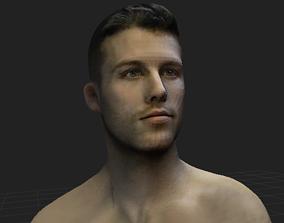 Man Head render 3D model