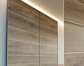 Wooden wall panel 71 3D model