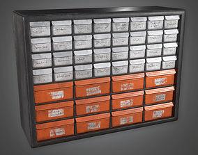Parts Tool Shelf TLS - PBR Game Ready 3D model