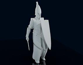 Elven warrior figure 3D print model