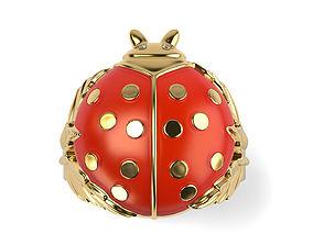 jewelry 3D printable model Lady Bug Pendant