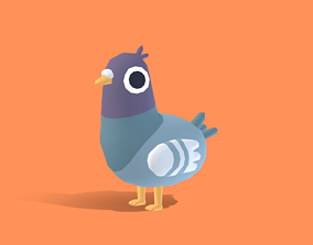 Pips the Pigeon - Quirky Series 3D asset