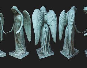 3D asset Woman Angel Statue - Low Poly - Photogrammetry
