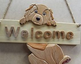 3D printable model Dog Sign - Changeable Text - Welcome