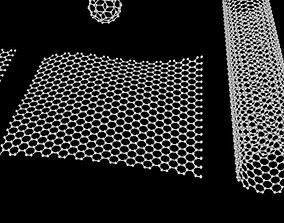 3D model Graphene Structure Allotrope of Carbon | CGTrader
