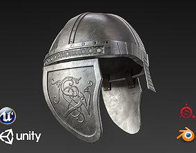 3D model VR / AR ready Medieval Knight Helmet