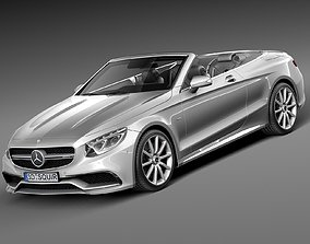 Mercedes-Benz S63 AMG Cabriolet 2015-2017 3D model