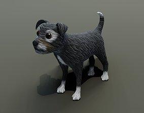VR / AR ready Cartoon Terrier Dog 3D Model