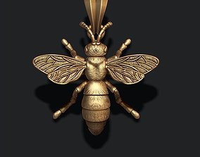 Bee pendant 3D print model insect
