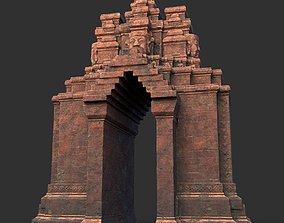 3D asset Low poly Ancient Temple 10