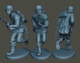 3D printable model German soldier ww2 run G1
