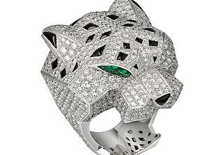 Panthera Ring Cartier 3D Print Model
