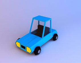 Cartoon Car low-poly 3D asset