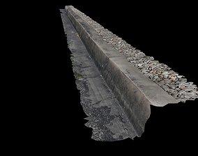 Curb Sidewalk Road curb - Photogrammetry 3D