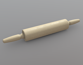 3D model realtime PBR Rolling Pin