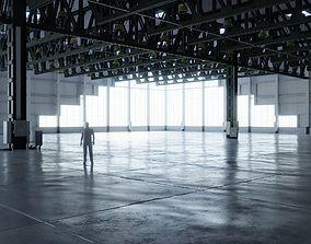 3D asset Warehouse Interior 4 - No Textures