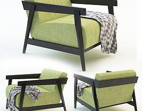 3D model chair garden plaid