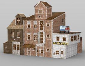 Wharf Buidling for DAZ Studio 3D model