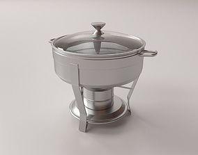 Round Chafing Dish v2 3D model