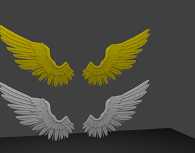 3D model ANGEL WING low poly or Medium poly