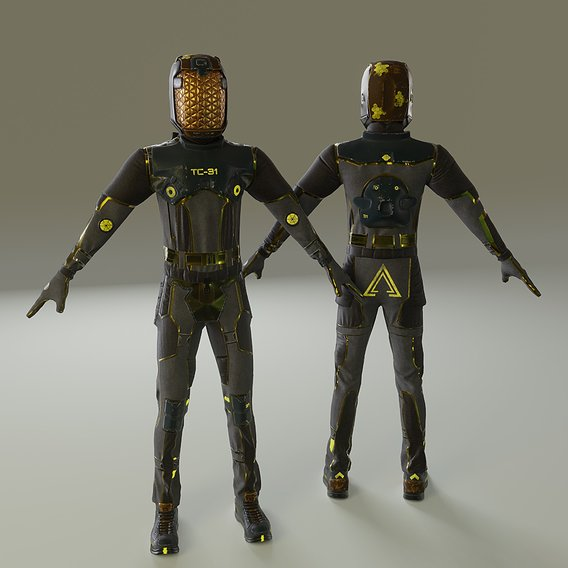 Spacesuit - 2 3d model