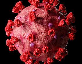 3D model low-poly Coronavirus COVID-19