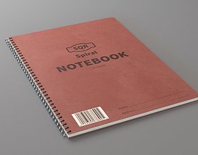 3D model library Spiral Notebook