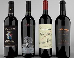 3D Wine Red Bottle set2 Blender Cycles